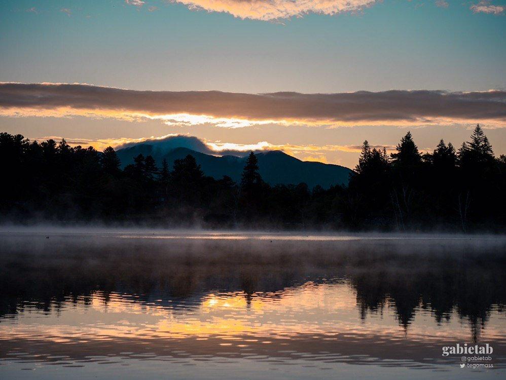Mirror Lake at dawn.