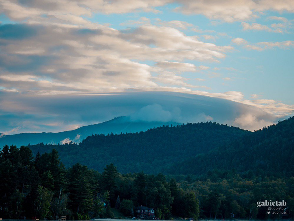 A view of some of the Adirondacks peaks.
