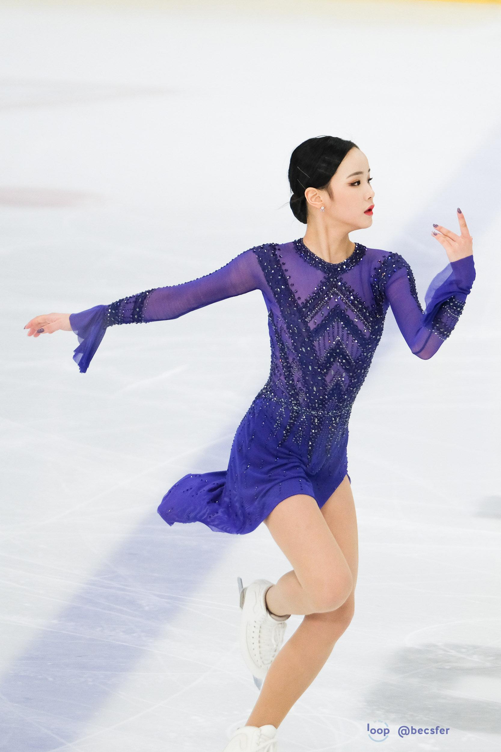 Eunsoo practicing her short program