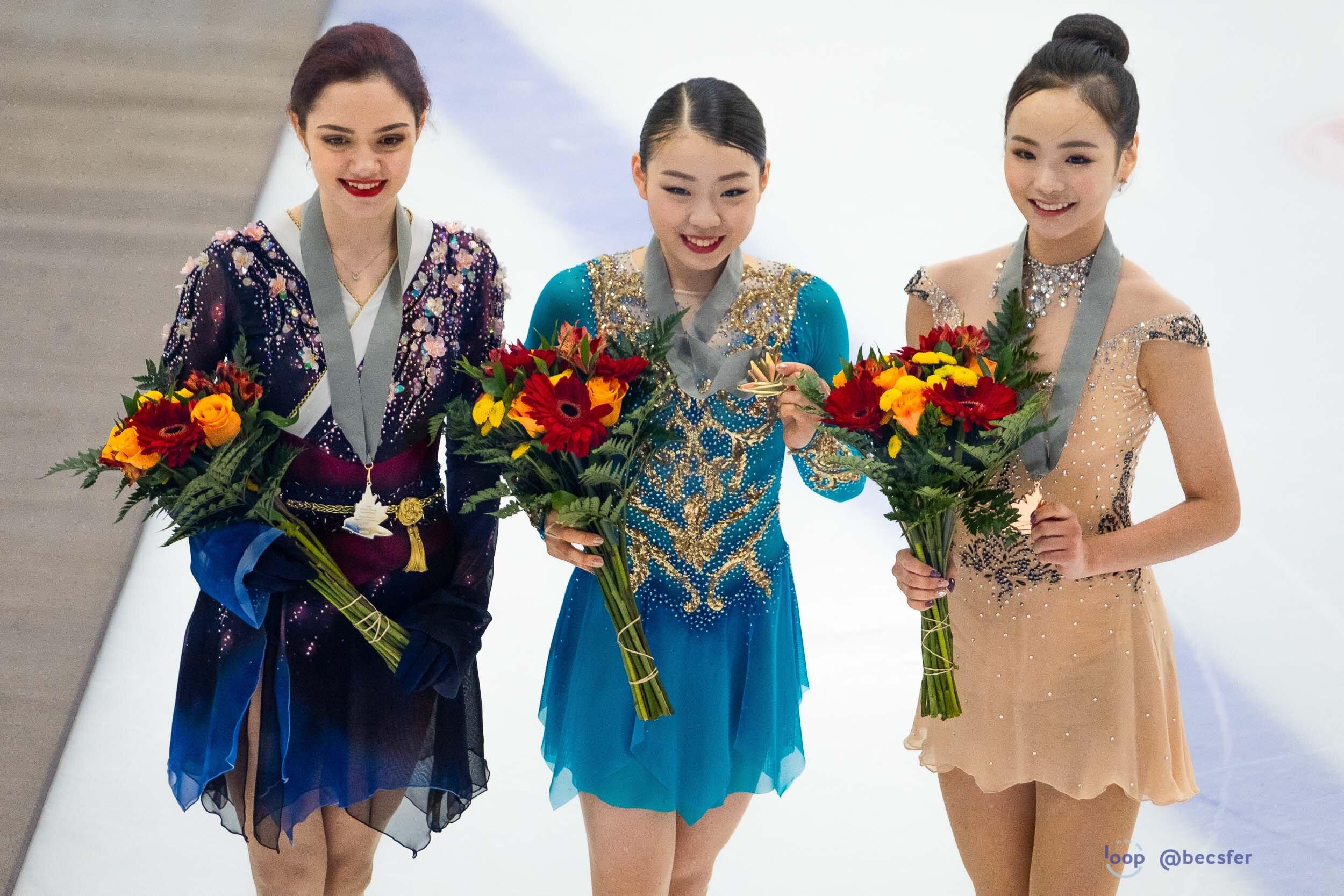 The Ladies medalists!