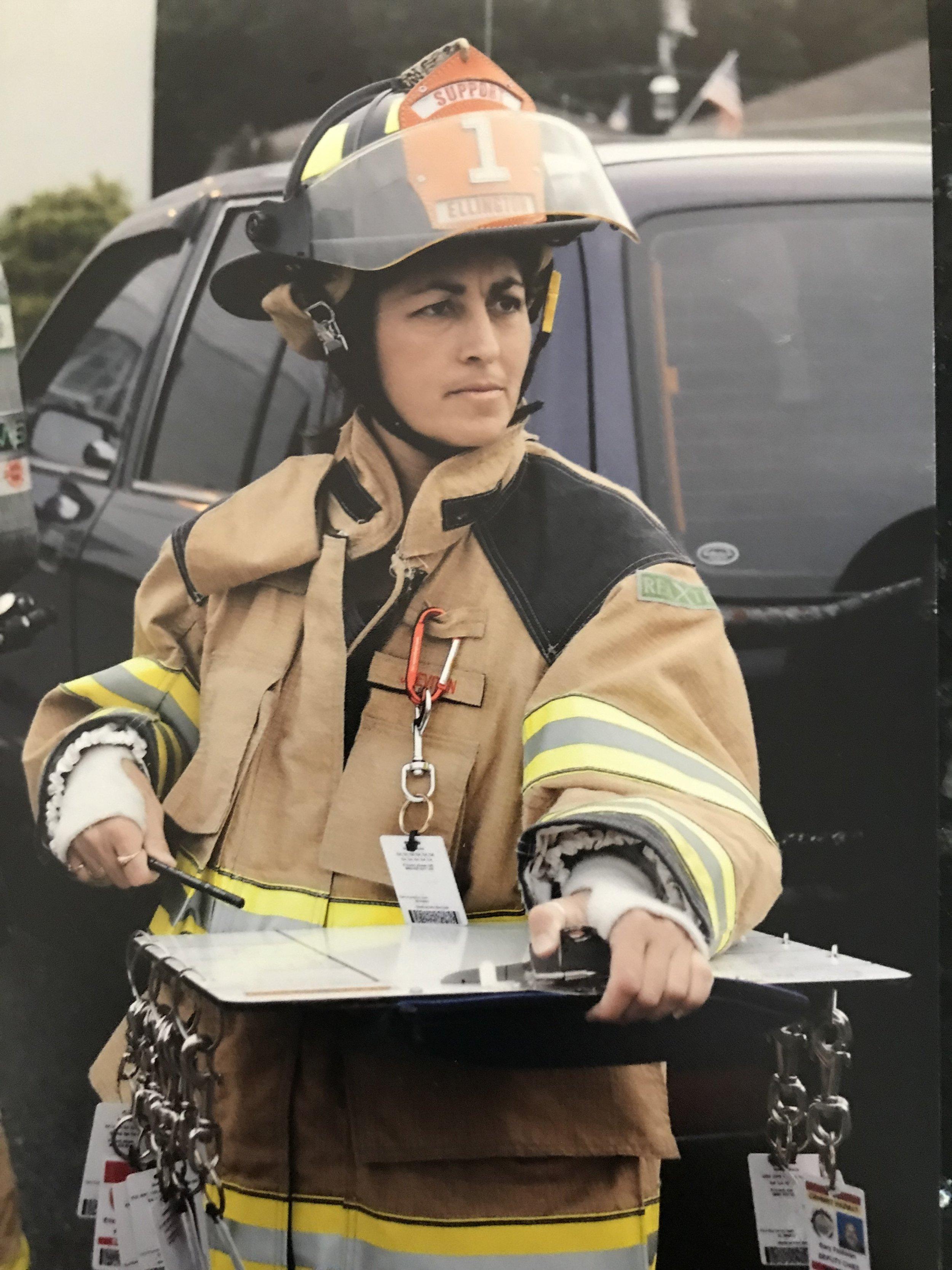 Mom running accountability before finishing Firefighter I.