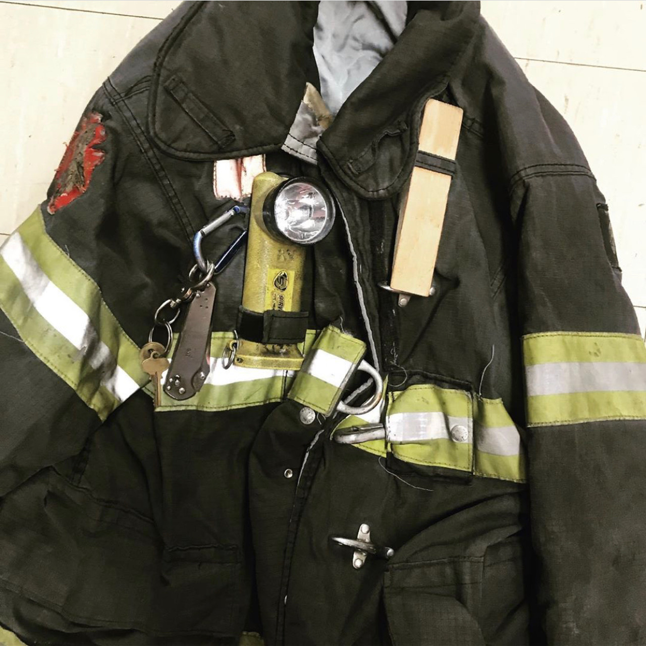 tools in firefighter pockets