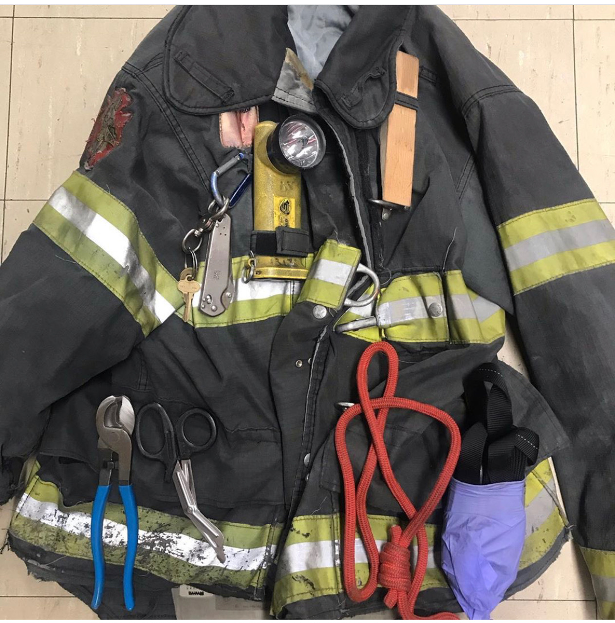 what firefighter carry in pockets