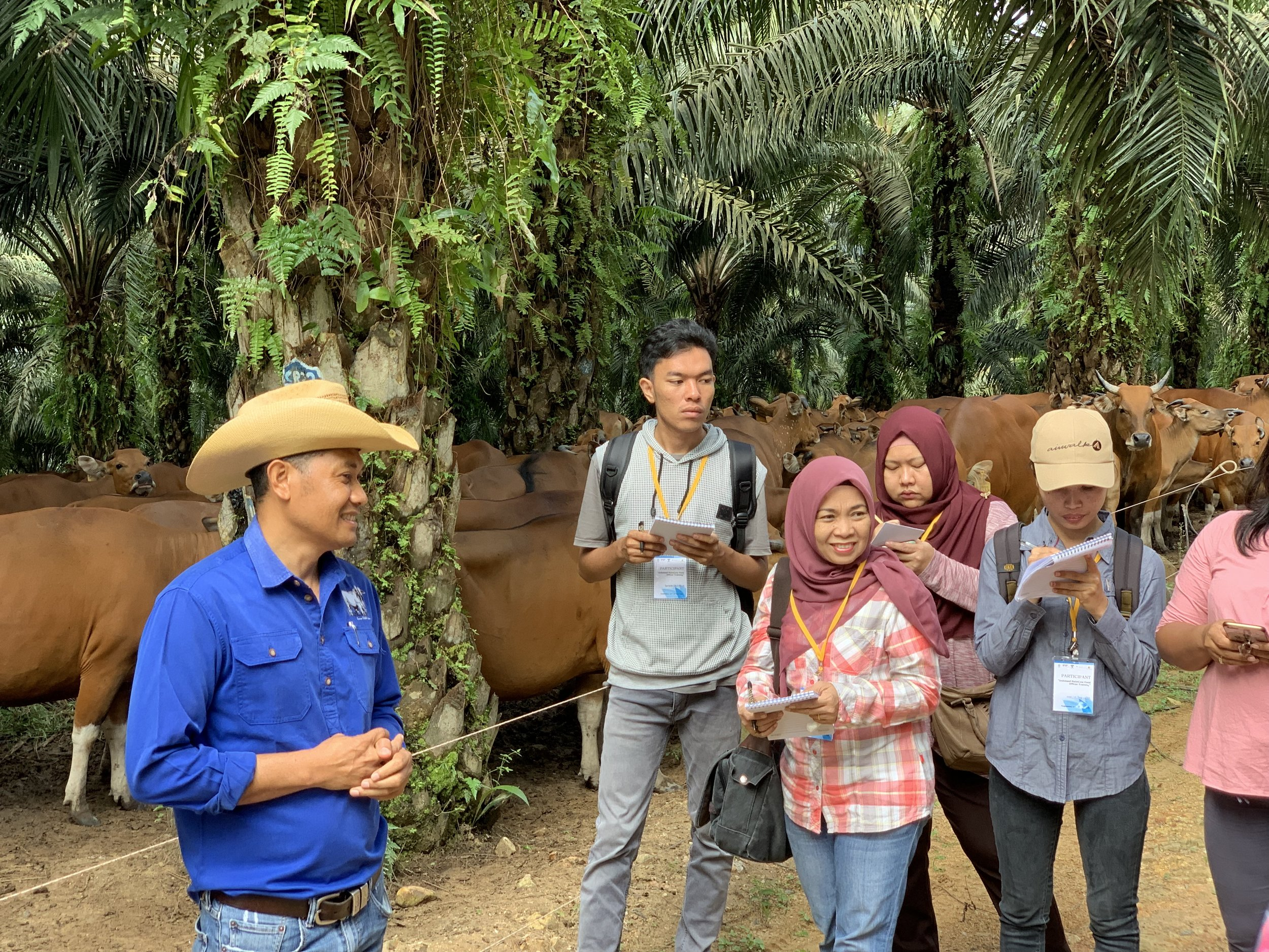 The Field Officers benefited greatly from visiting PT. Sulung Ranch