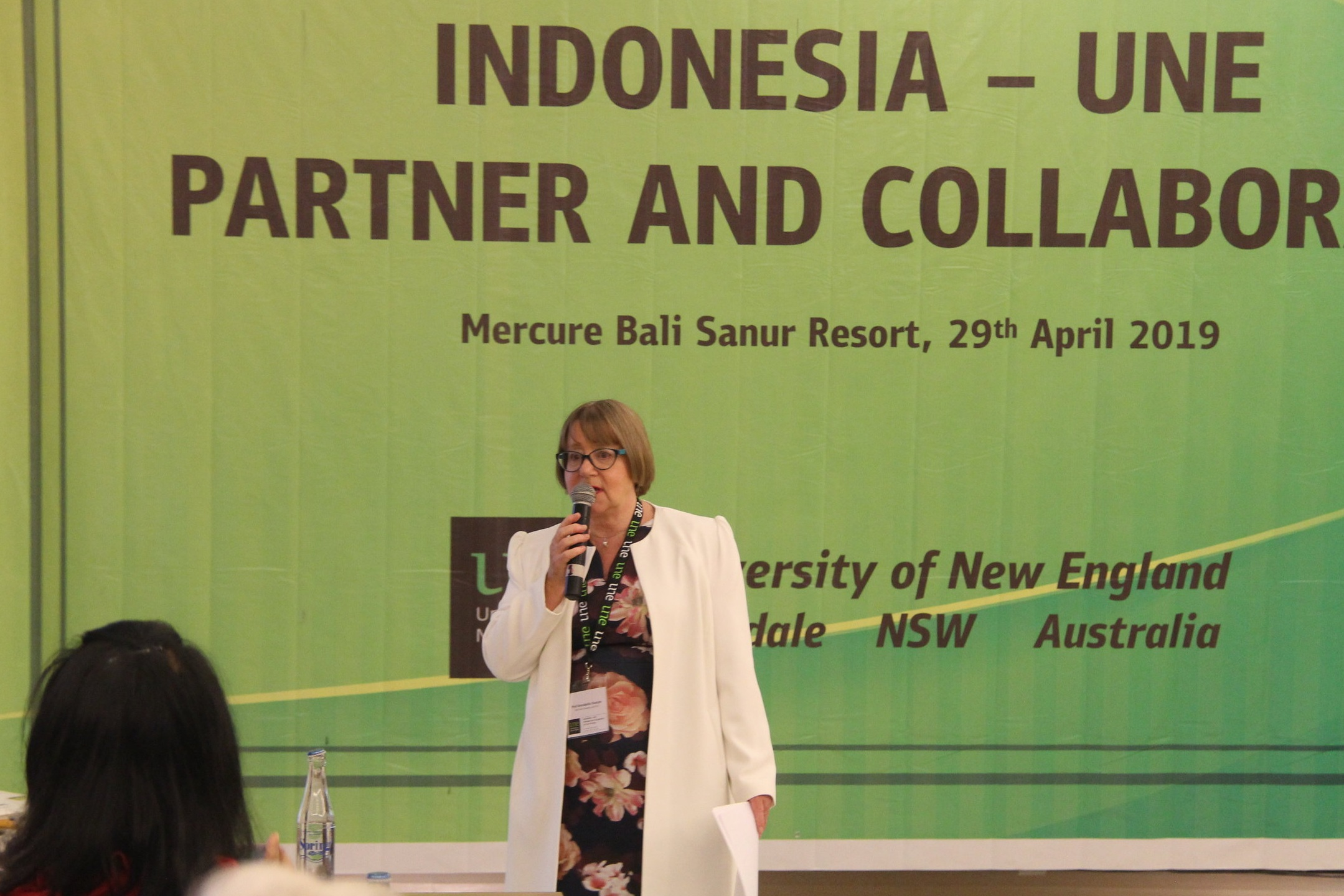 UNE Vice-Chancellor, Professor Annabelle Duncan, discusses UNE's current engagement activities with Indonesian universities, industry and government.