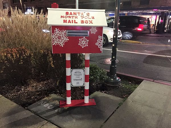 Santa's mail Box on Corner of Kirkland Ave and Lake St.