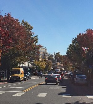 The Main street in downtown Kirkland