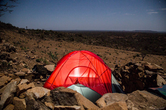 Camping in Omo Valley, Ehiopia