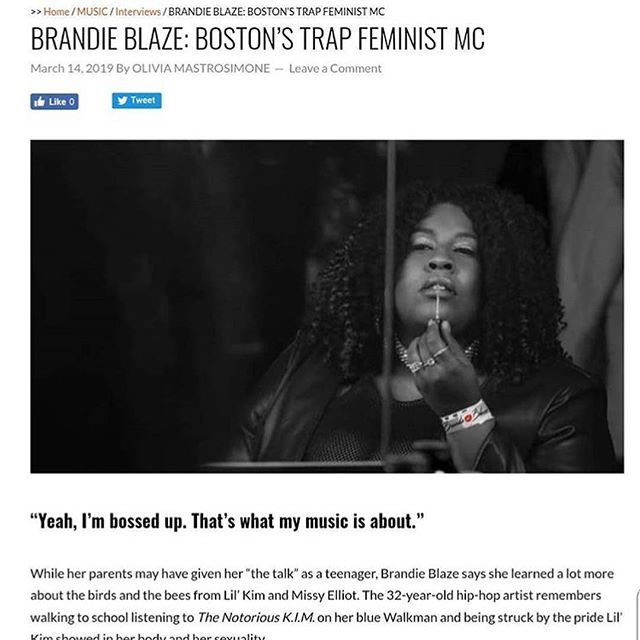 "@brandieblaze 's single ""Drown"" just came out on all streaming services! Be sure to check that out as well as her profile in @digstagramboston!"