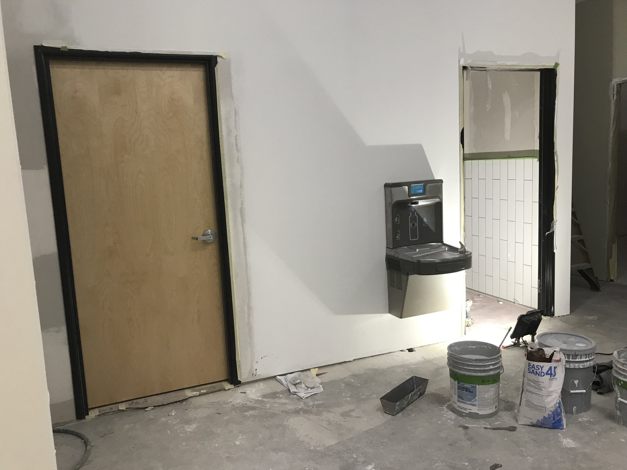 Our gender neutral restrooms and new water fountain