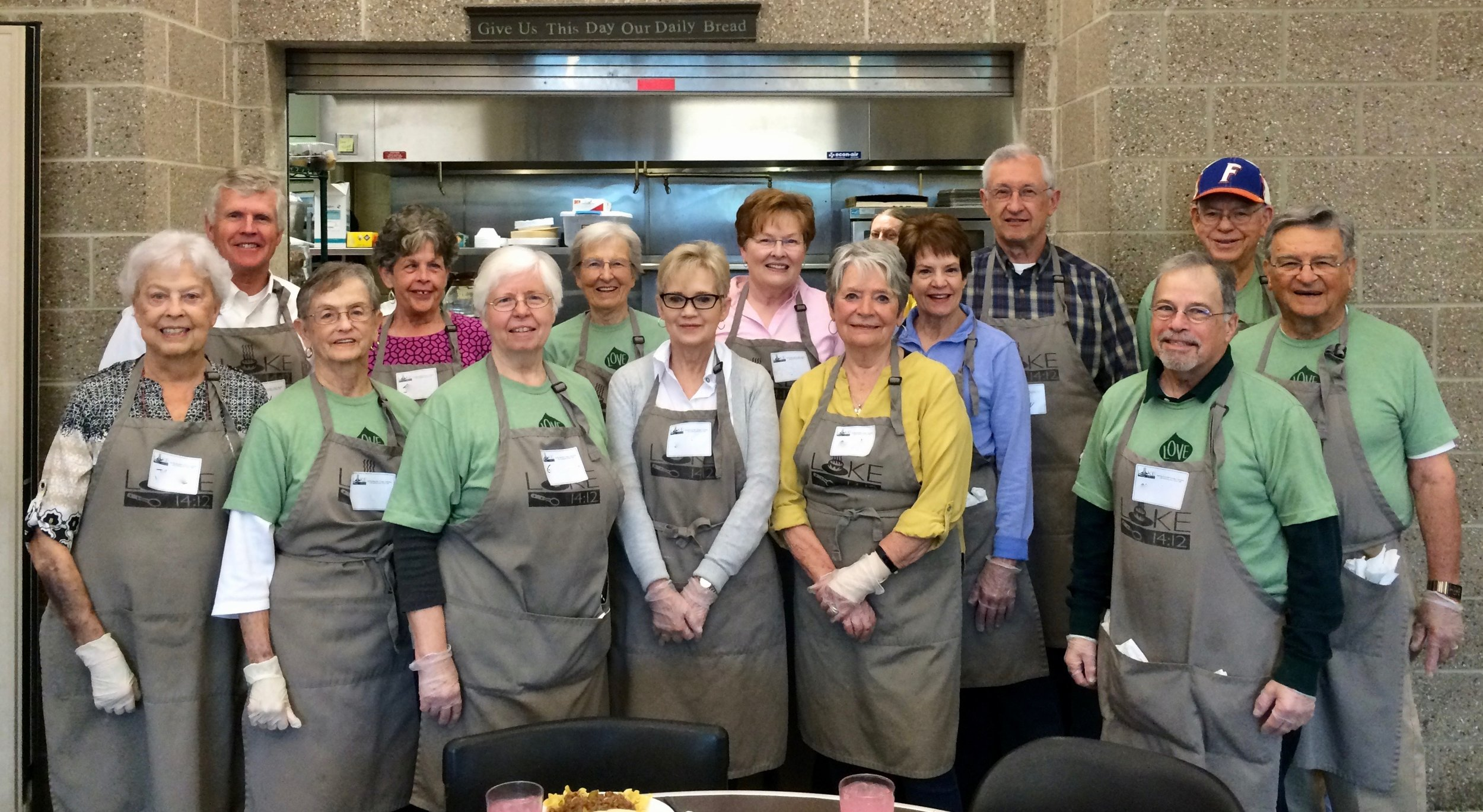 Many of Immanuel's senior adults regularly serve lunch to our homeless neighbors at Luke 14:12.