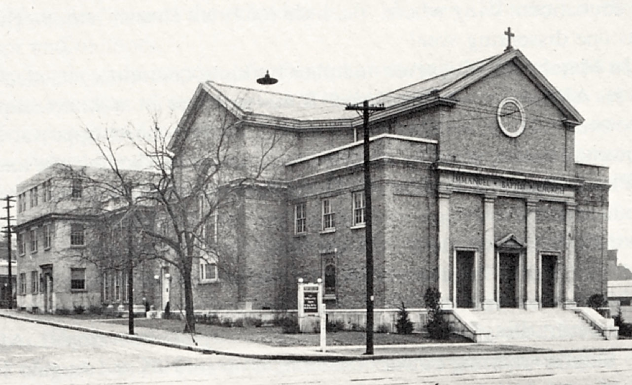 Original site of Immanuel Baptist Church at 17th and West End Avenues