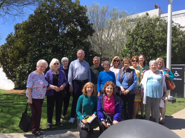 Senior adult field trip to the Frist Art Museum
