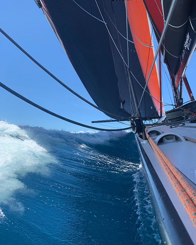 SHK Scallywag have got off to a great start in the Antigua to Bermuda Race! Currently cruising along nicely at 15.5 kn.  Let's hope for a record breaking race! Go Scallywag 🏴‍☠️ #Scallywag #ForeverFish #SHKS #HongKong #SunHungKaiCo #BrandHongKong #FUKUBLD #SailRacingOfficial #GreatBarrierReefFoundation #Clearly #PYSHK #SuperMaxi #Sustainability #CleanTheSeas #AutismOnTheWater #AOTW #SeaDek #We_Are_SunGod