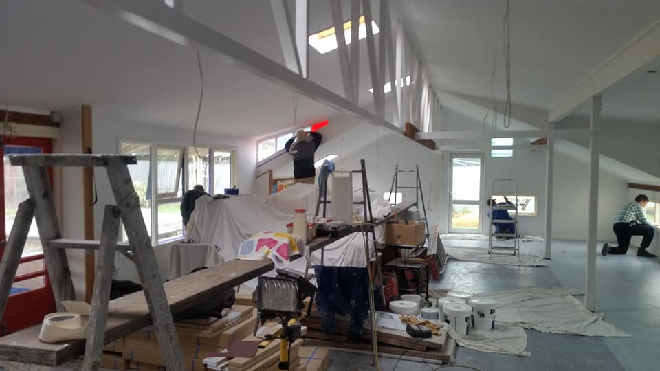 Carterton Playcentre being renovated.