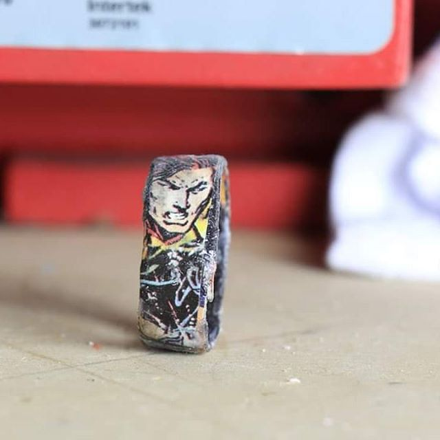 A fun comic book ring I put together last Thursday featuring Magnus.