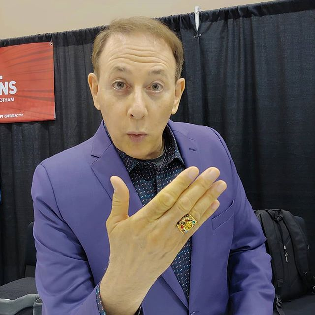 "Pee Wee Herman wants to know, ""Do you have your infinity Stones Ring?"" If not, get over to H721 and get it today! #excaliburrings #phoenixfanfusion #phoenixfanfusion2019 #endgame #infinitywars"