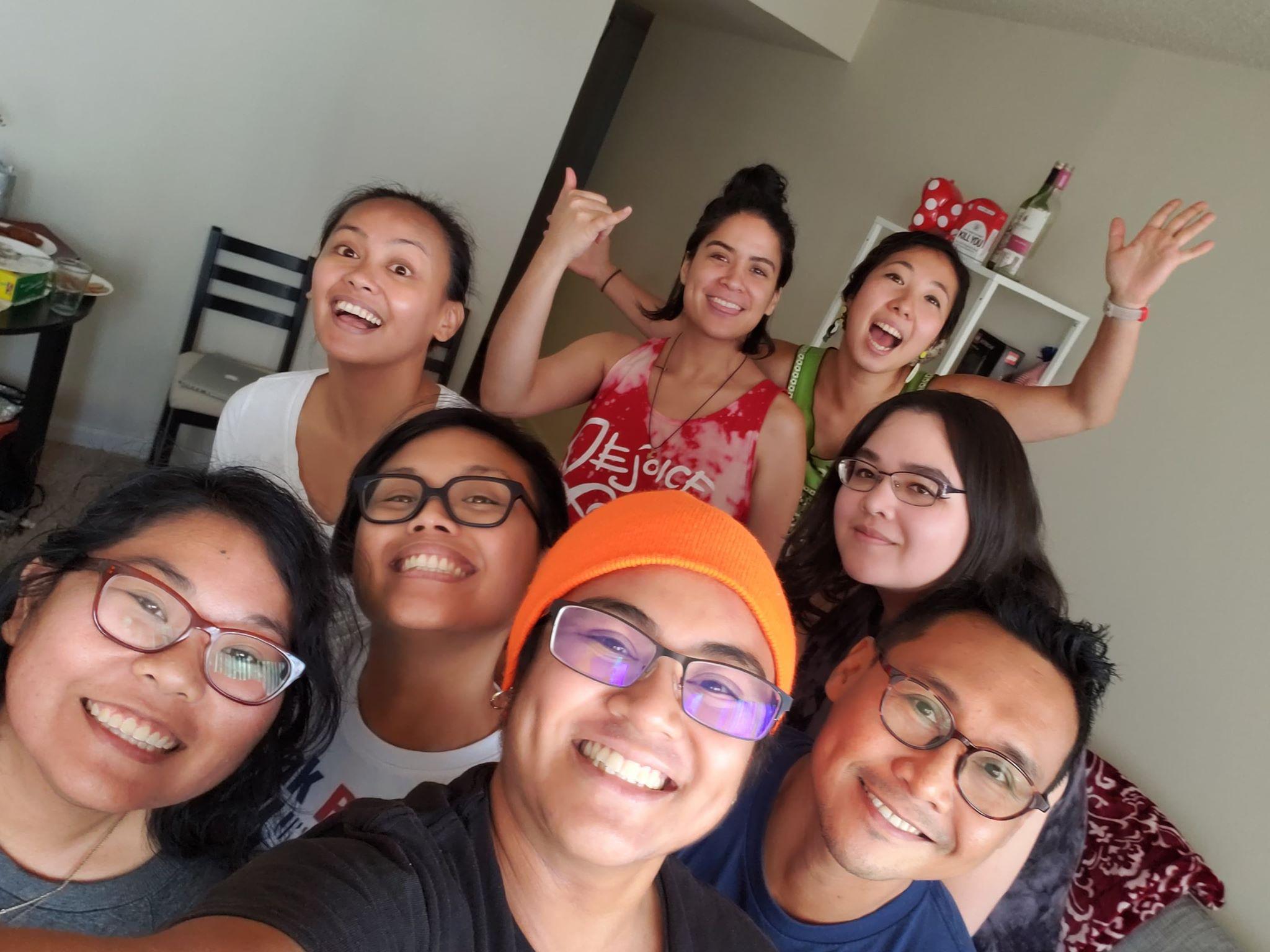 Baltimore Asian Pasifika Arts Collective core staff: (Top L-R) Donna Ibale, Mani Yangilmau, Mika Nakano, Sam Callanta; (Bottom L-R) Marela Kay Minosa, Cori Dioquino, Catrece Tipon, Mohammad R. Suaidi.