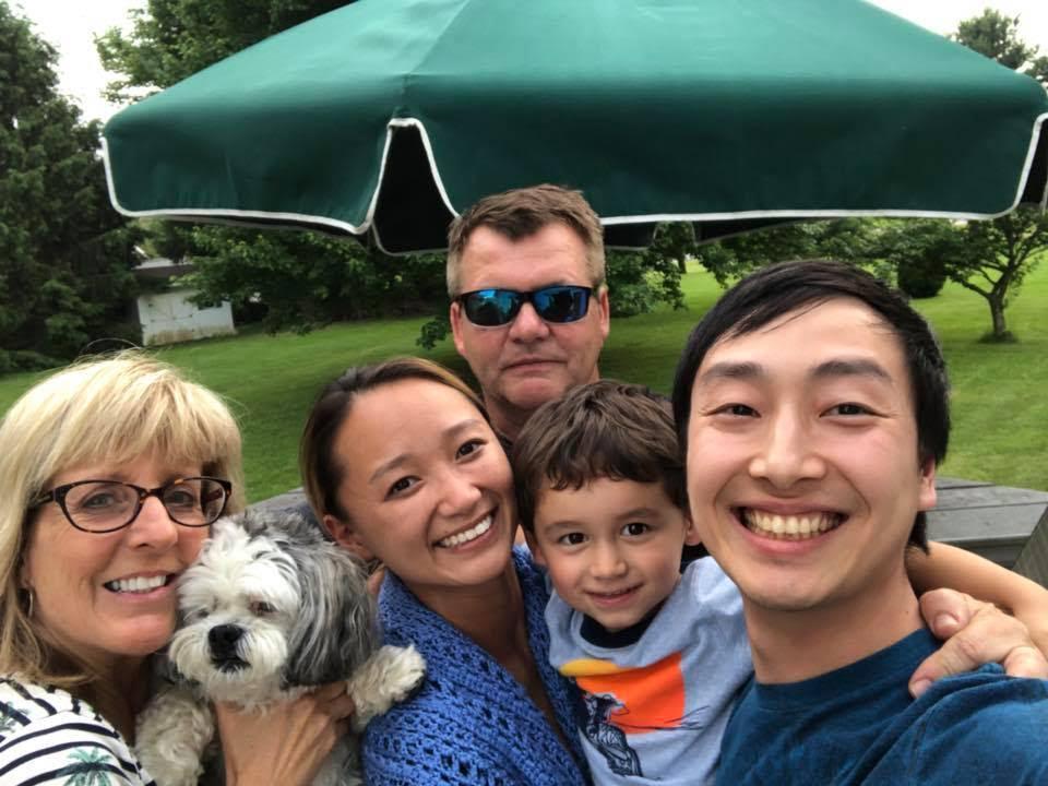 Brett and his family. Photo courtesy of Brett Messoria