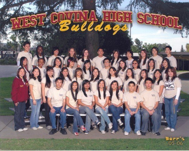 Bottom row, second to far left:  Donna Ibale. West Covina High School Class photo courtesy of Donna Ibale.