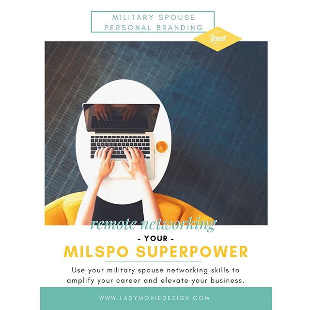 Do you network? What about remote networking? If you're a military spouse, you're probably already really good at this and you don't even know it! Even if you're not,  #remotenetworking is an invaluable tool as a business owner. Check out my latest blog post about harnessing this superpower, and tag a #milspouse who you met through remote networking! ↠ check my profile for the link ✨ ⠀ . ⠀ . ⠀ . ⠀ . ⠀ . ⠀ #personalbranding #networking #brandjourney #brandstorytelling #brandstrategy #milspousebranding #militaryspousepersonalbranding #milspostrong #milspreneur #careerjourney #newblogpost #militaryblogger #ladymoxie #ladymoxiedesign