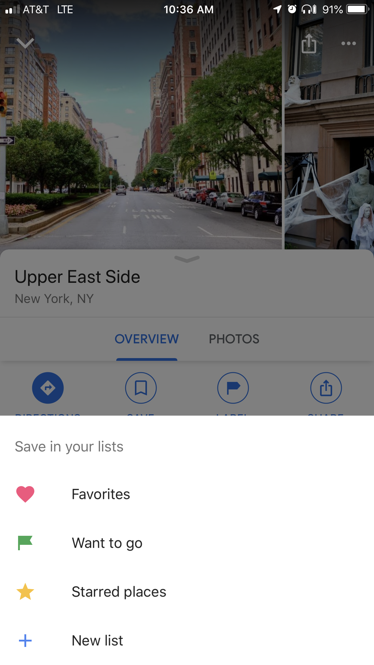 Enter a place into google maps, swipe up, click SAVE, click STARRED places.