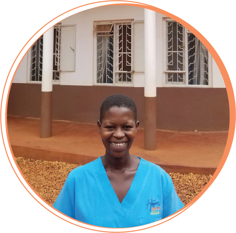 """ALLEN NAMWASE  Auxillary Staff     """"Four years ago, I was desperate and hopeless with my life. I needed to cover my mouth if I laughed or smiled, but since I met Hope Smiles my life has been transformed as I received a beautiful smile and educated on how to care for it. I no longer cover my mouth! I really appreciate the work that Hope Smiles does and I am happy to be working here for over 2 years because I know I help our team transform lives. I enjoy my work and am proud to be a part of the Hope Smiles team!"""""""