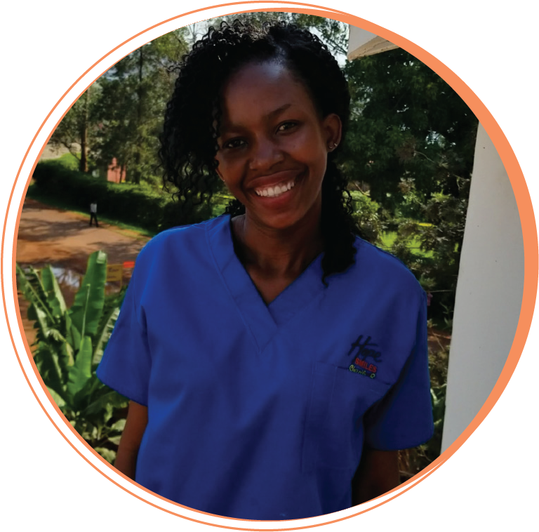 """Sharifa Birungi  Dental Assistant  """"Creating a smile on someone's face is a gift from God, and Hope Smiles has given me that gift as a patient over and over again. Now as a member of the team, I am empowered to do it for a variety of people around Uganda. My life is now more meaningful because of this work."""""""