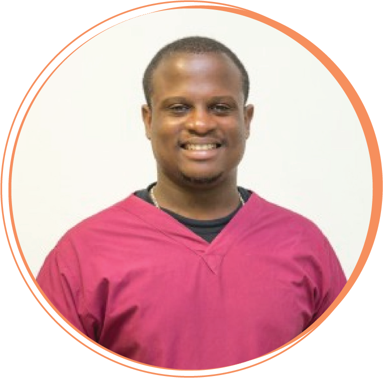 """Dr. Serge Riche  Dentist   """"Working with Hope Smiles gave me the possibility to see a bigger picture of the dental health situation of my country. It allowed me to get out of my comfort zone, step up as a leader, and play my part in the changes that need to happen in our health system and the life of every single patient we touch!"""""""