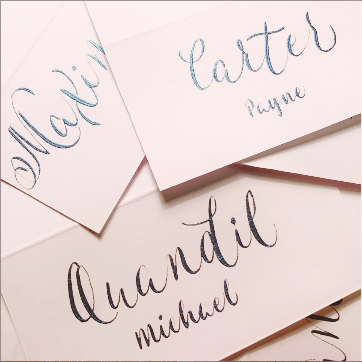 Calligraphy for Weddings and Formal Events