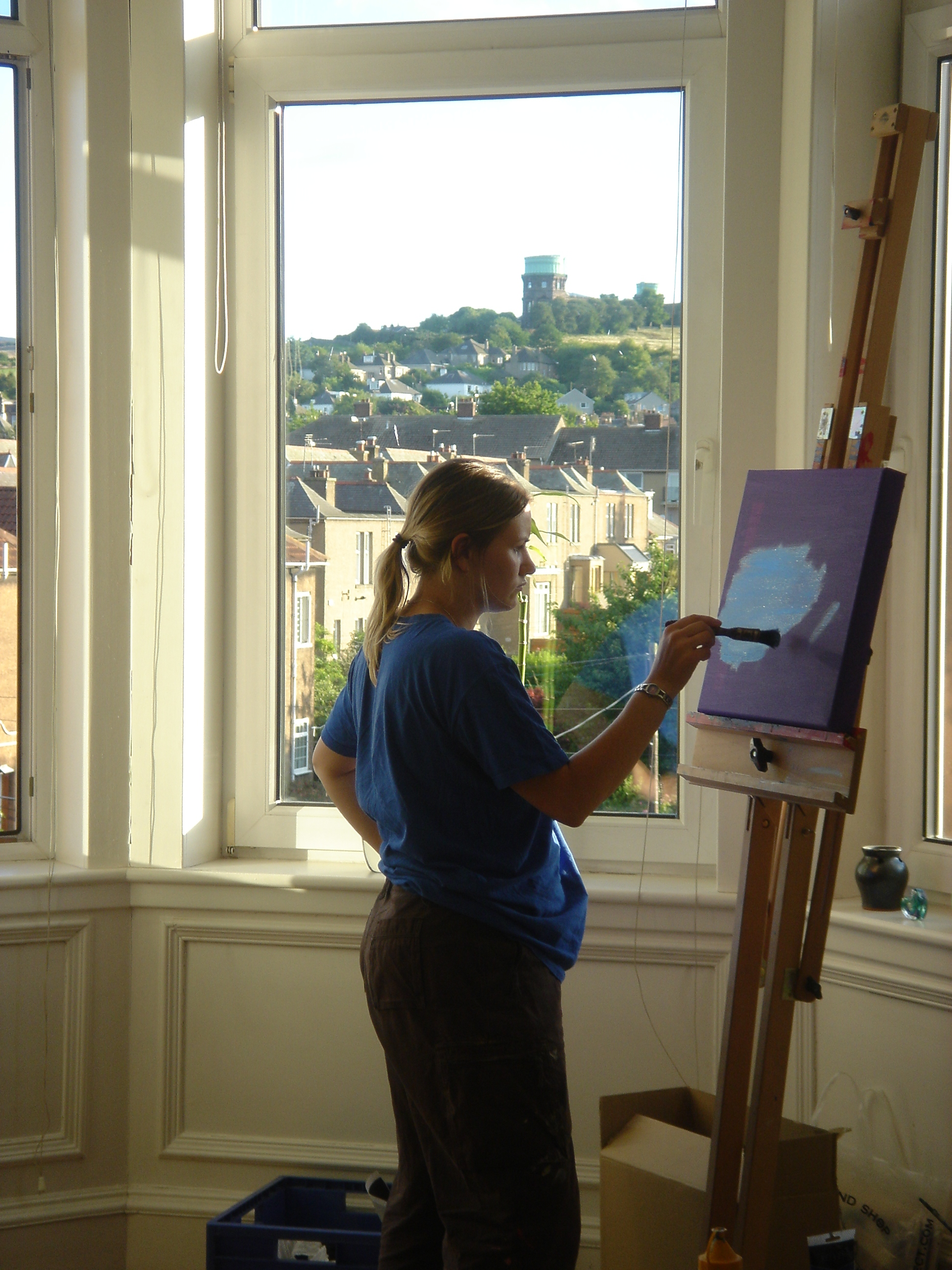 Maria painting at Savile Place.JPG