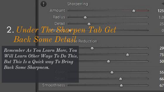 Use Sharpen To Restore Details