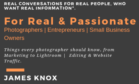 Real Photographers entrepreneurs small business owners Learning Need this Sign up