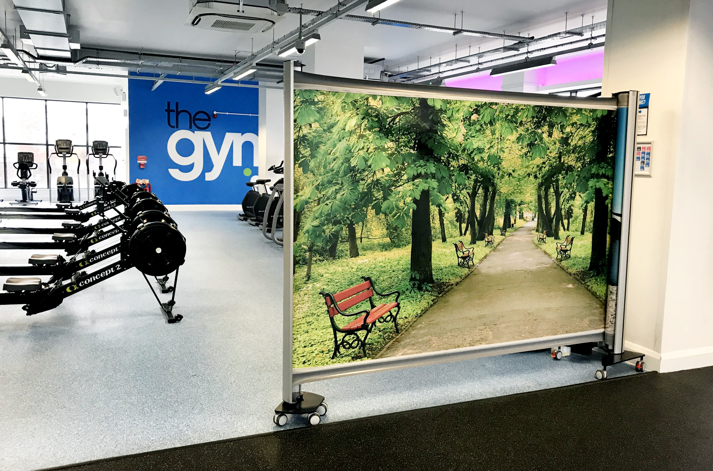 KwickScreen installed the The Gym Group London