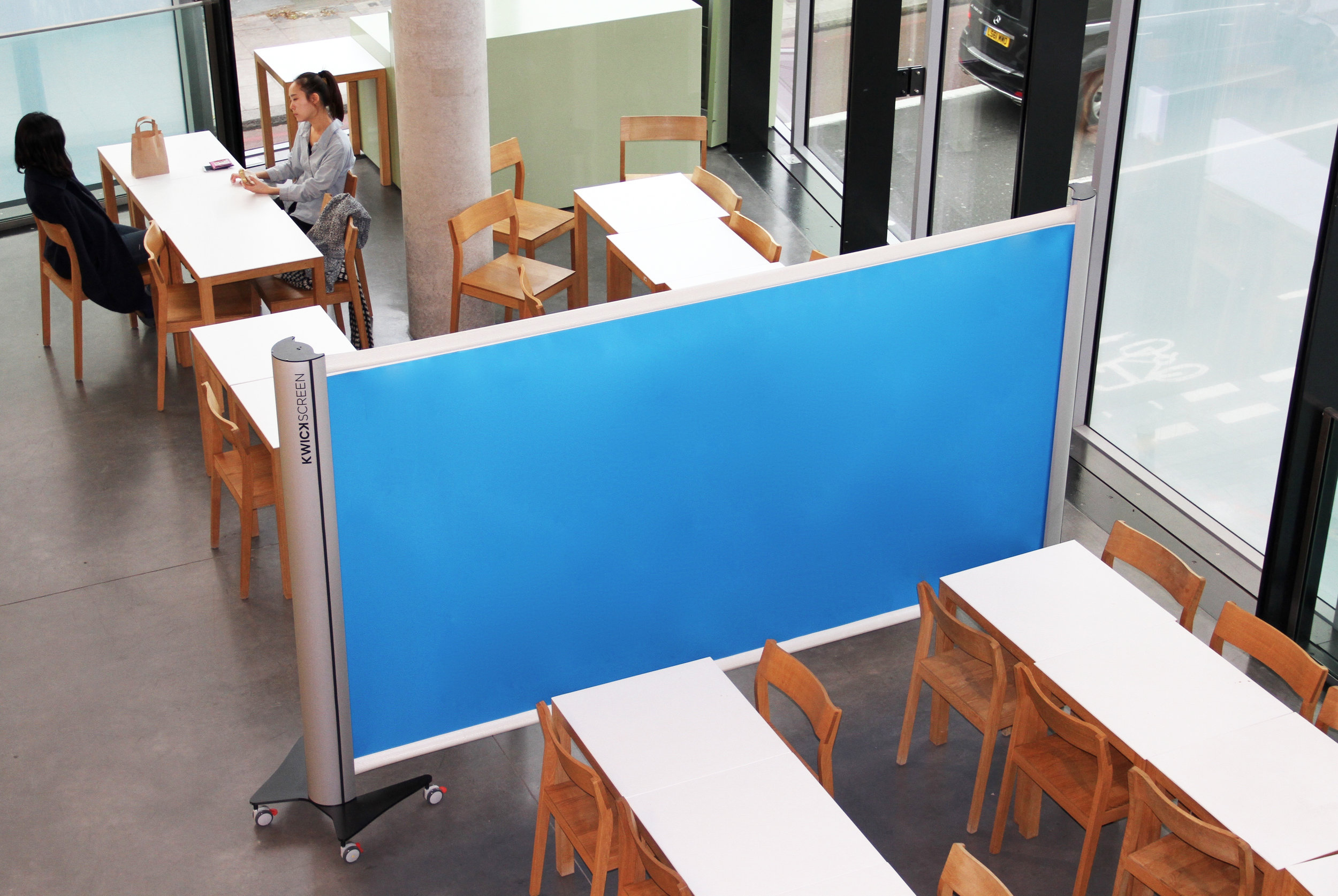 KwickScreen at the Royal College of Art Cafe Room divider