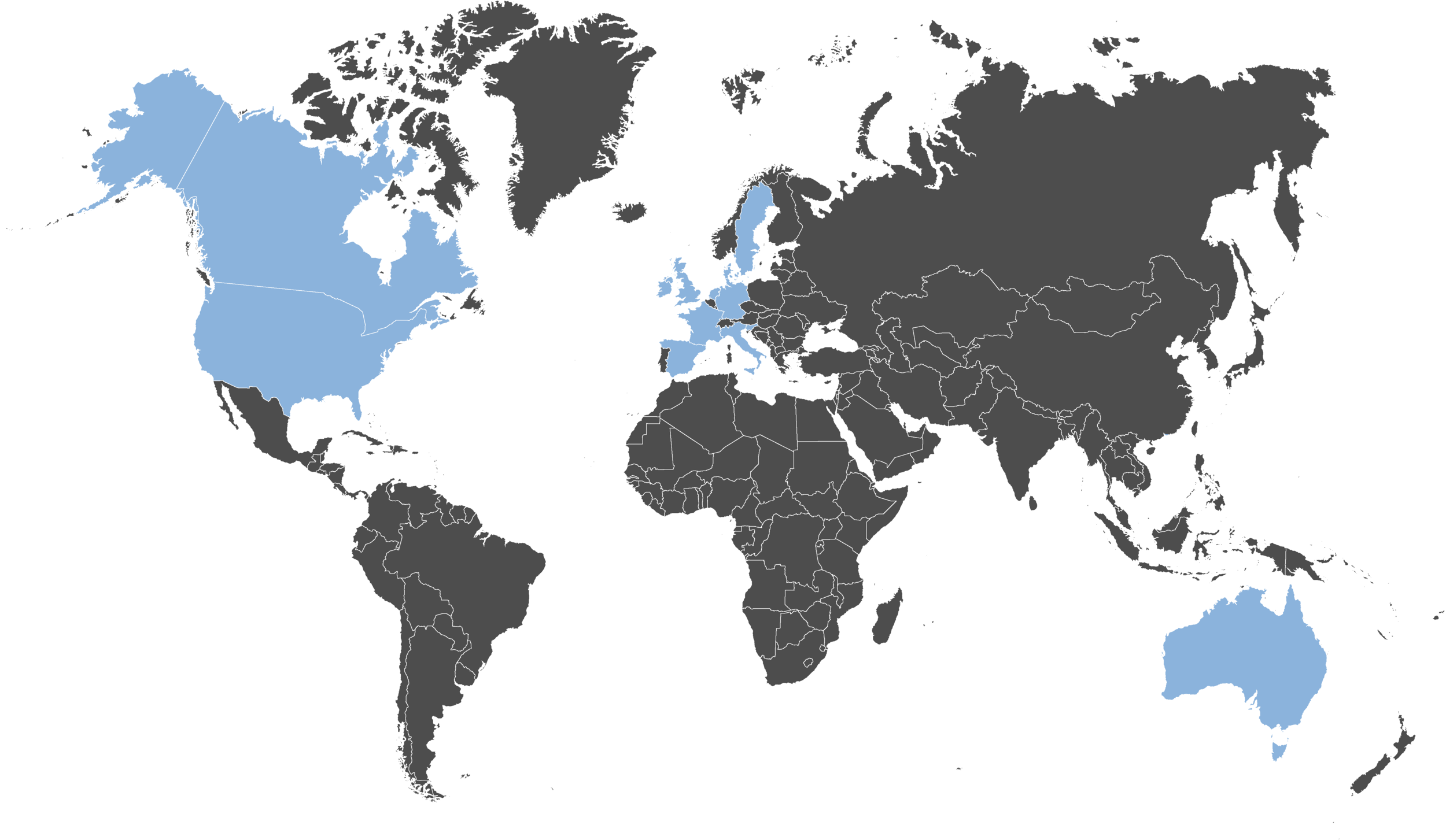 Worldwide Distribution Network - We have distribution partners throughout Europe, North America and the Pacific, insuring we have a global reach. Check your location for a distribution partner here: