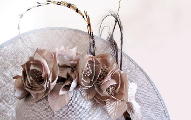 Extend summer with #fabulous #floral hat. This pale blush hat branches in to autumnal colours which we can't get enough of at the moment! What colours would you like to see on our #hats this #autumn? . #bridalfashion #luxuryhats #luxuryfashion #fashion #hatdesign #bespokehats
