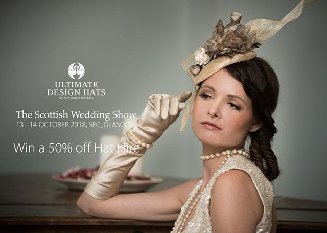 On the 13th & 14th of October 'like' and 'share' our Facebook page to have the chance to win a 50% off HAT HIRE and to top it all off, the runner-up receives 20% off their HAT HIRE as well!!! Book your tickets below today and come to see us on the day! The winner will be announced on the 16th of October. T&C's apply . . . #Ultimatedesignhats #Luxurydesignhats #follow #stylish #instastyle #highfashion #highstreetfashion #couturemillinery #bridalfashion  #hats #fascinator #luxuryhats #hat #luxuryfashion #fashion #bridal #hatdesign #bespokehats #rentalhats #rent #competition #thescottishweddingshow #weddingcompetition