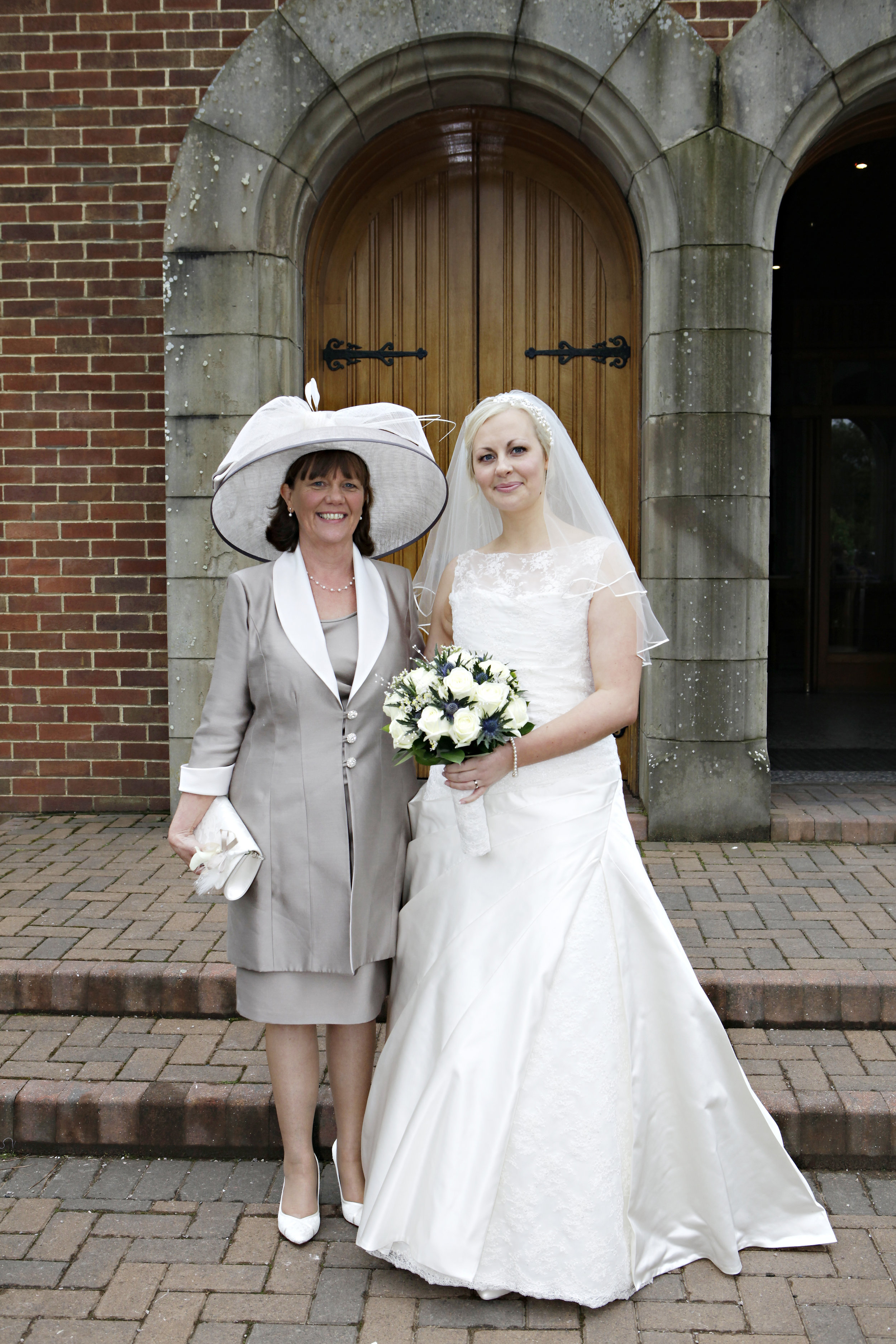 "Helen Anne Nicol   ""Eventually a couple of photos as promised. We had a wonderful day and your hat was greatly admired. The wedding was in June and we'll be grandparents in May."""