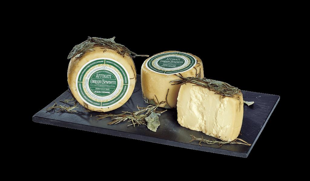 Cimbro affinato in salvia e rosmarino - Kravský sýr vyzrálý v šalvěji a rozmarýnu