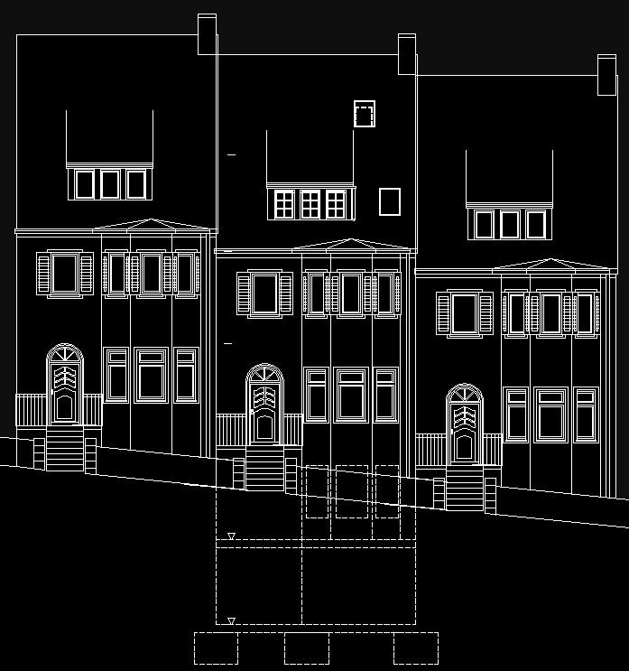 Die seche Reihenmietshäuser, genannt Villenkolonie Unterer Sonnenberg, wurden 1925 für Kommerzienrat Schiedmayer erbaut. -