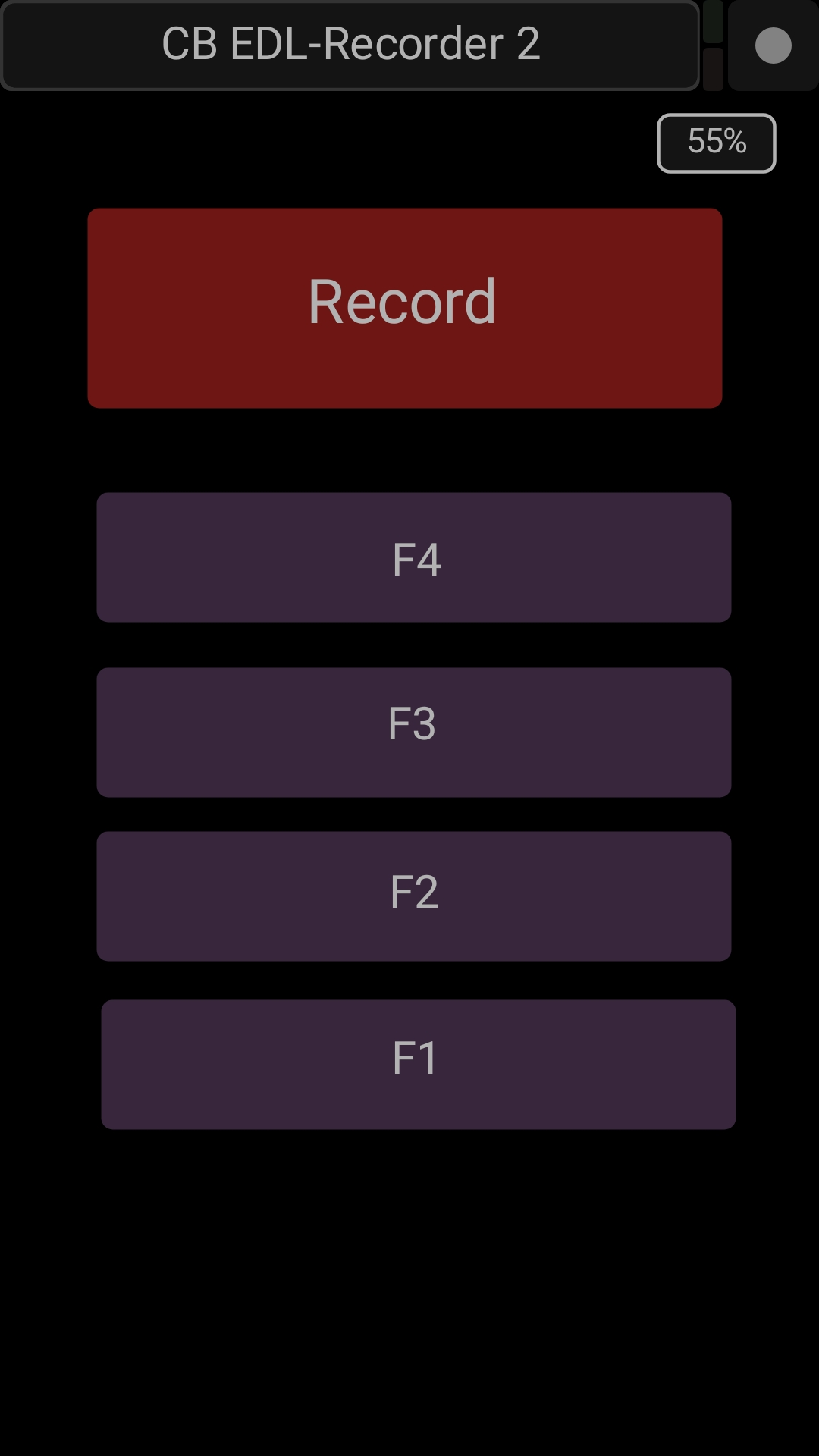 Remote Control From your phone or tablet! - Remote the Record and four Mark keys using this App.The Function keys display the labels defined in the EDL recorder App.install the TouchOsc App ( $5 or 5 Euro) and download the layout from the Software tab below.