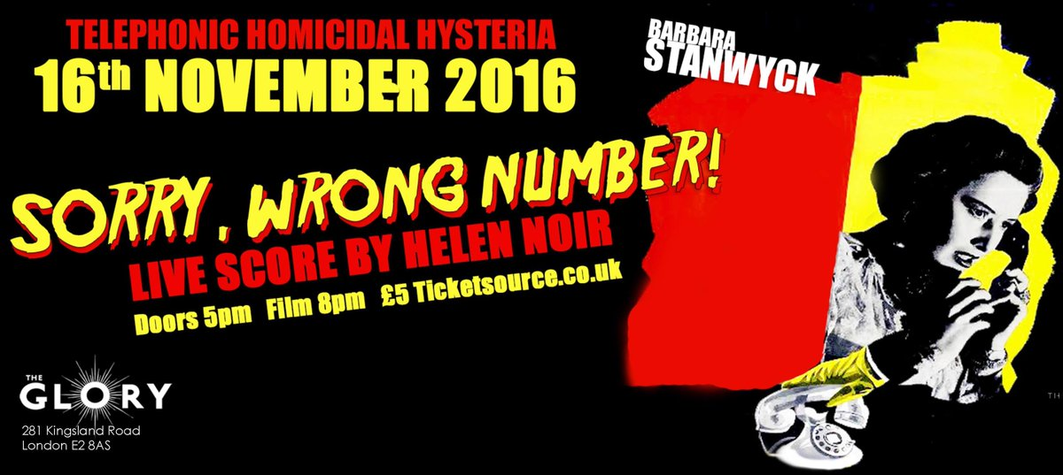Sorry Wrong Number , The Glory, London November 2016 (live soundtracks)