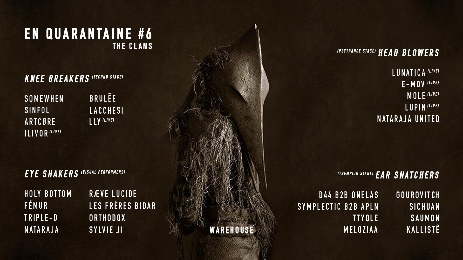 En Quarantaine #6 : The Clans w/ Nataraja [SOLD OUT]