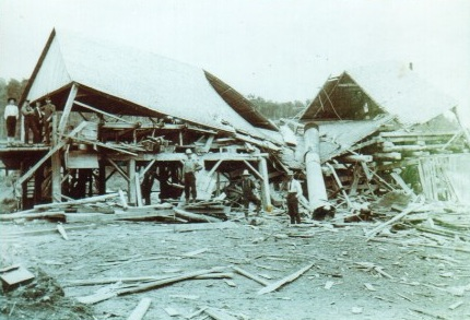 Cain's Mill after explosion.  Wilfred Winn, William Duncan a.jpg