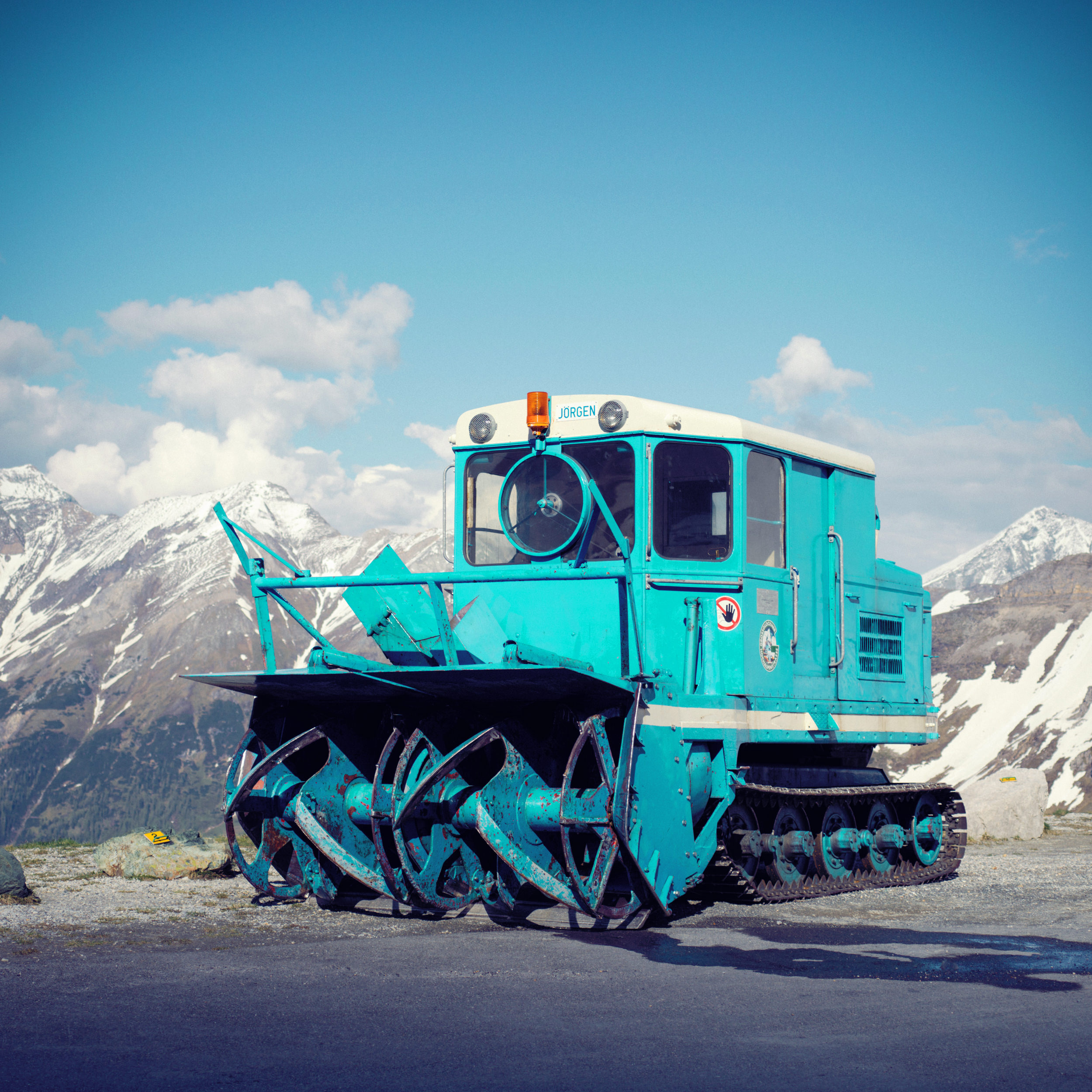 They use this monsters to cut a road into the snow.