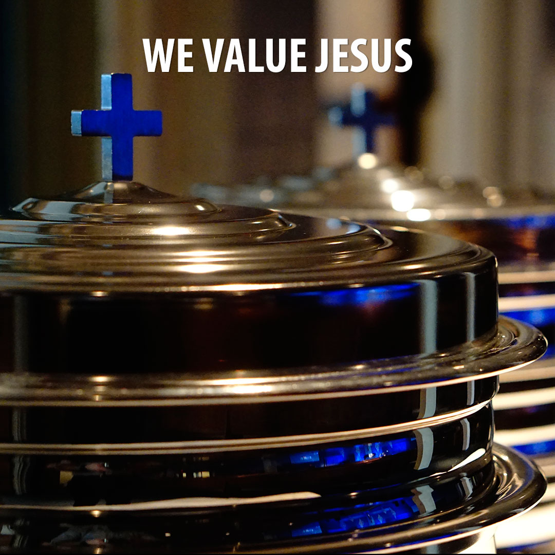 We believe Jesus is the one true God, the sacrificial substitute for our sins, the head of the church, an all-satisfying object of affection, and the true treasure of our hearts.    (Romans 3:23-26; Colossians 1:18; John 17:24; Psalm 16:11, 63:1-5)