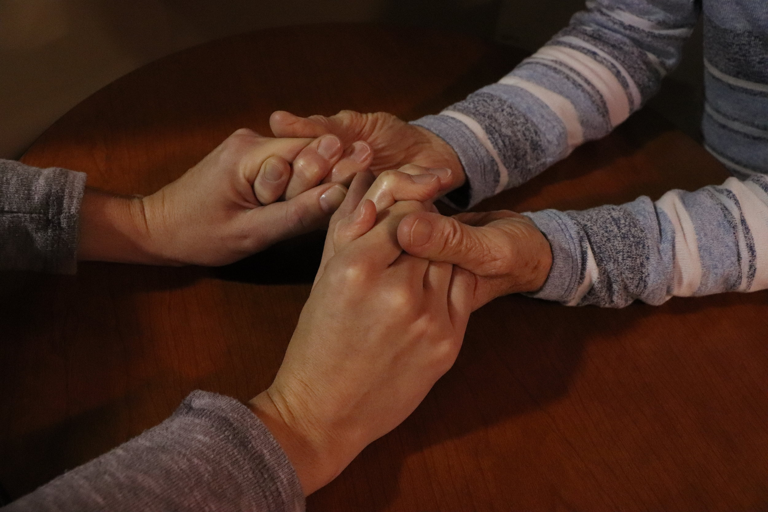 Care - Praying for the needs of our church family; visiting those unable to be with us either short or long term