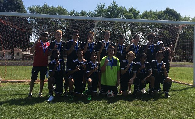 Shoutout to our BU17/18 Black Squad for winning the GOLD at the 56th annual AC Douglas Cup this past weekend. ⚫️🏅 They beat West Rouge Storm 2:0 in the final with goals from Krishan Gomes (PK, 2') ⚽️ and Hunter Aldred (47') ⚽️assisted by Ethan Poole.  They are heading to the SWRSL Cup this weekend. More of the same boys, we're cheering for you! ☝️