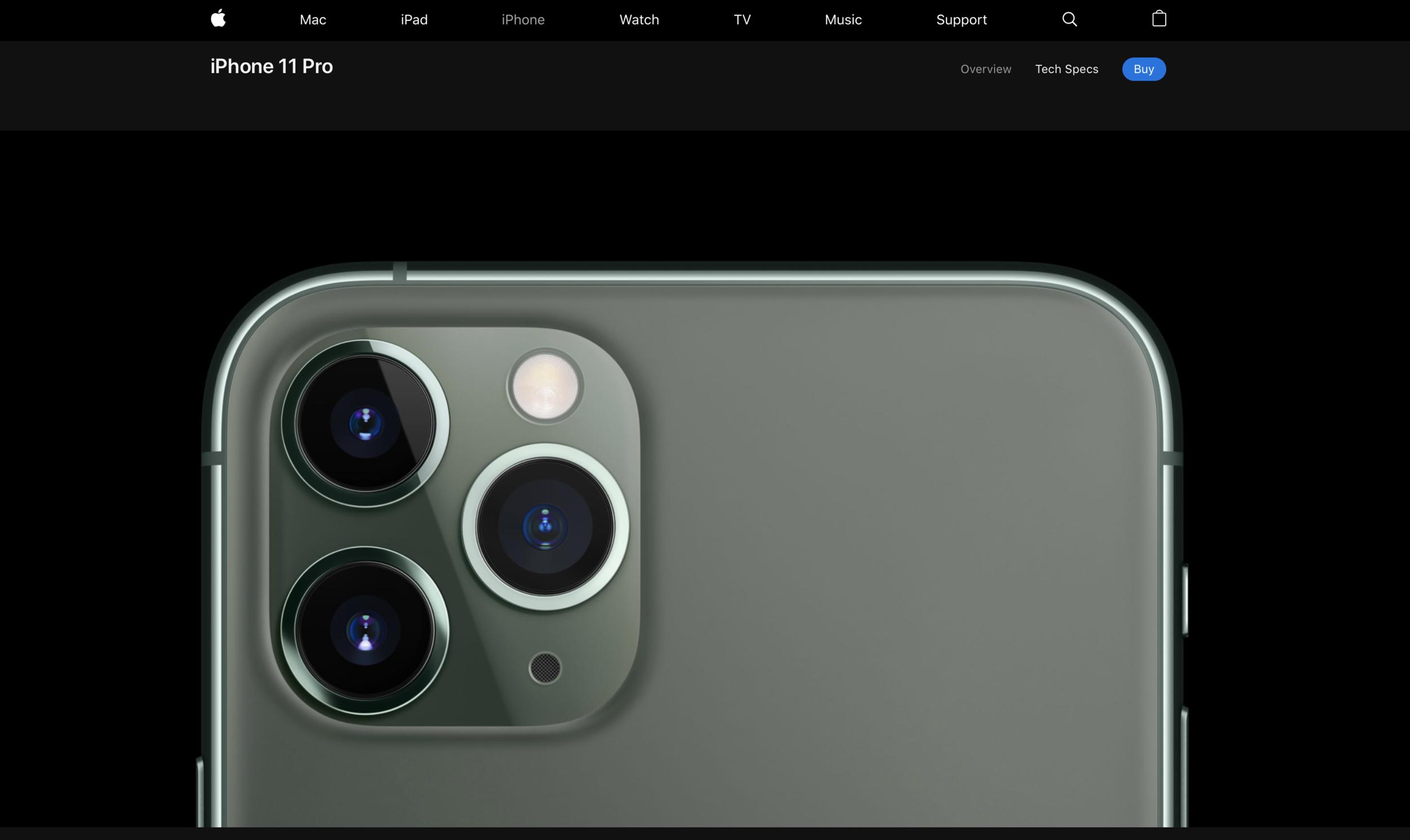 iPhone pro big product shot